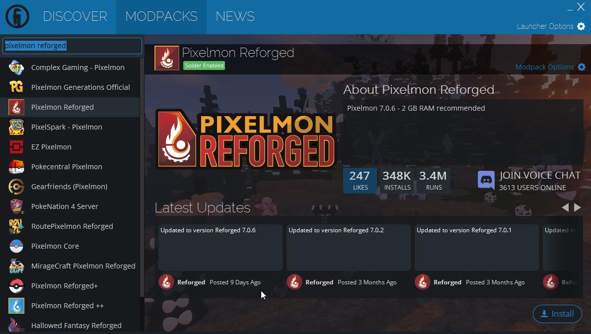 Pixelmon Reforged Server List
